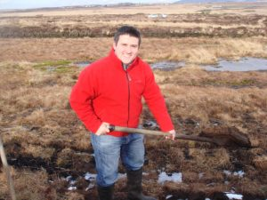 andre in islay cutting peat