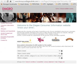 diageo website