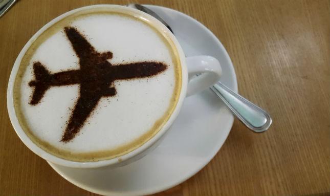 coffee airplane